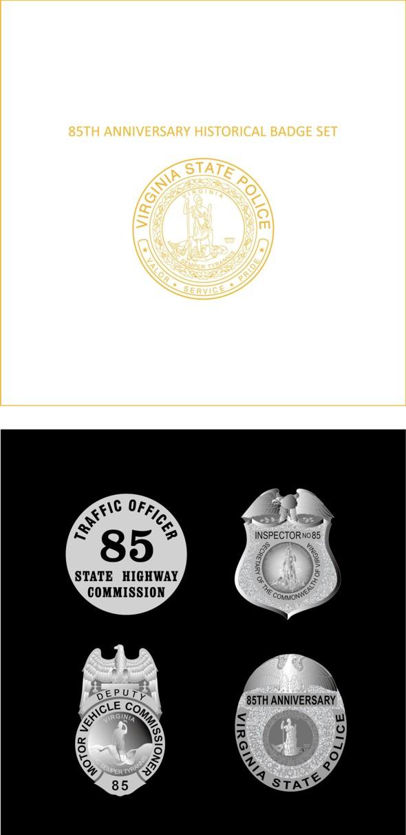 85th Anniversary Historical Badge Set