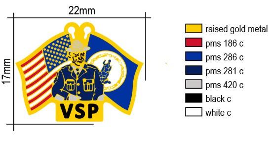 Trooper Flags Lapel Pin